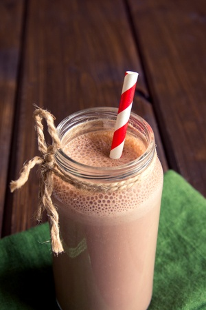 High chocolate low sugar easter chocolate smoothie