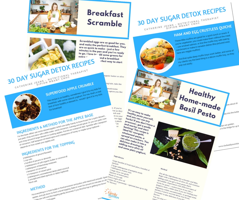 30 Day Sugar Detox recipes
