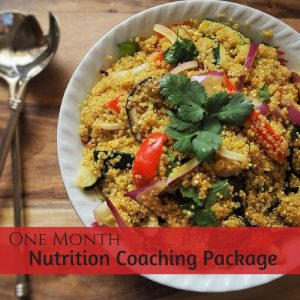 One month nutrition consultation coaching package
