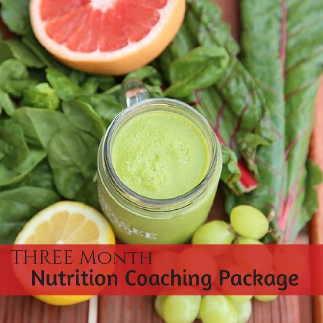 Three month nutrition coaching package
