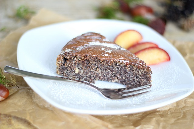 spiced apple chocolate cake