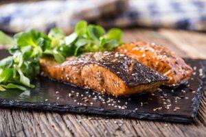 Asian baked sesame salmon recipe