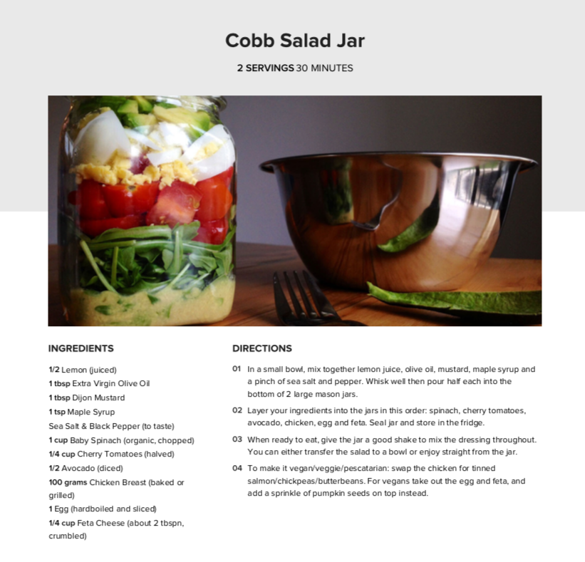 low carb lunches Cobb salad