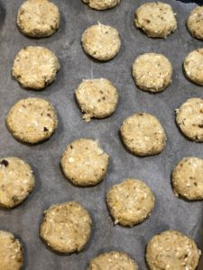 Oaty wheat free chickpea cookies