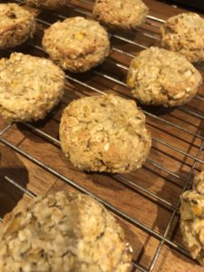 Oaty wheat free power cookies
